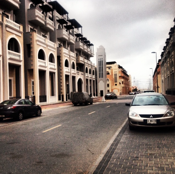 The street of my last apartment before I moved out. Jumeirah Village Circle