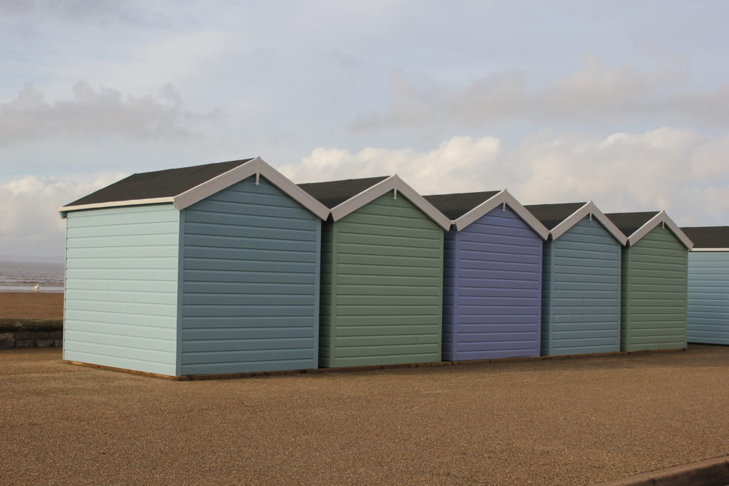 I saw these beautiful beach huts during my 2-day visit to Somerset